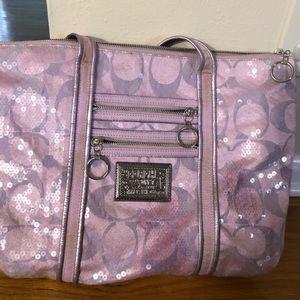 Coach purple Poppy sequin bag